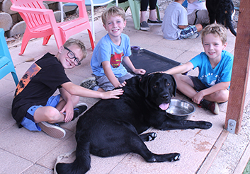 Kids with Lab